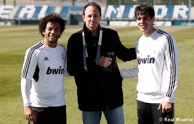 Rogério Ceni posa para foto com Kaká e Marcelo no Real Madrid (15/02/2012)