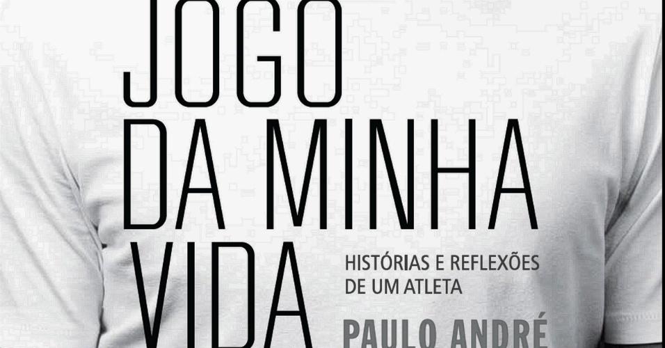 Capa do livro escrito por Paulo André, sobre os bastidores do futebol e o título do Corinthians