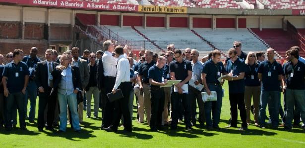 Comitiva de 40 técnicos da Fifa fizeram uma visita ao estádio Beira-Rio nesta quarta-feira