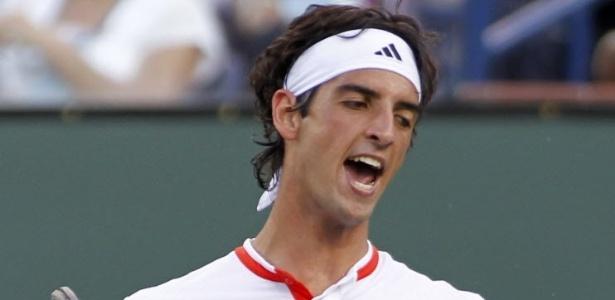 Bellucci, que hoje perdeu do português Gil, lamenta diante de Federer em Indian Wells