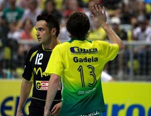 Falcão durante a final da Liga Futsal deste ano; o ala deve vestir a camisa do Santos no próximo ano