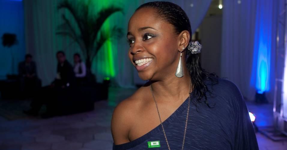 Ginasta Daiane dos Santos comparece ao prêmio Empresário Amigo do Esporte (09/08/11)