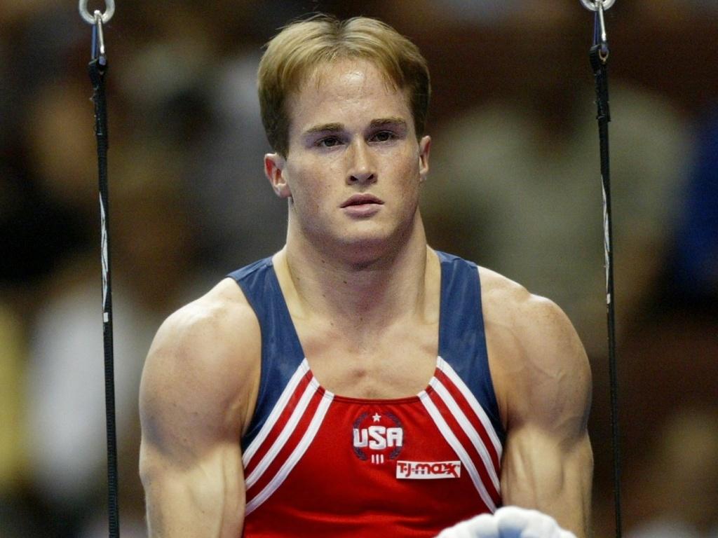 O ginasta norte-americano Paul Hamm, medalhista de ouro no individual geral em Atenas-2004