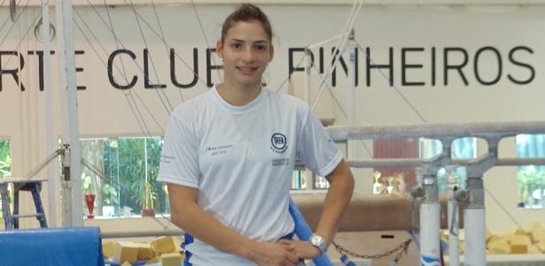 Laís Souza, ginasta do Pinheiros, que está se recuperando e ainda sonha com Londres