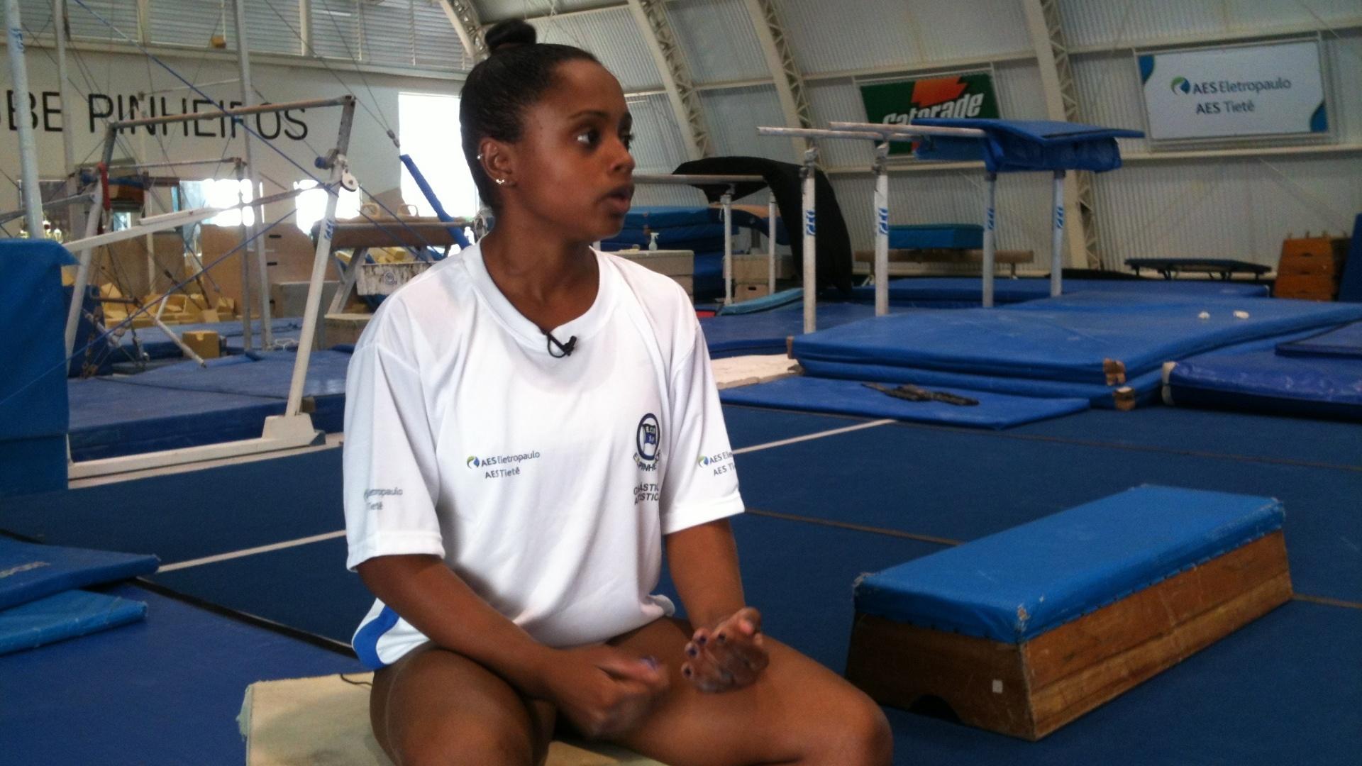 Daiane dos Santos, ginasta brasileira, concede entrevista ao UOL Esporte