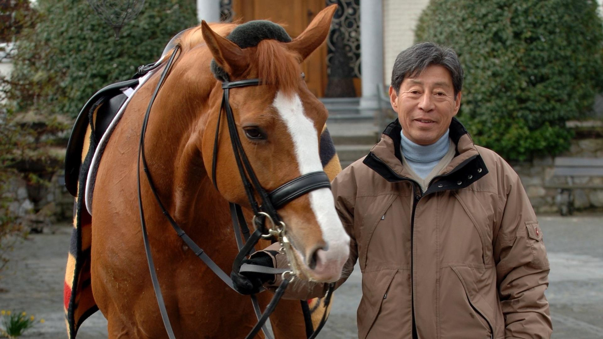 Hiroshi Hoketsu, cavaleiro japonês, que conseguiu vaga para Londres aos 70 anos de idade