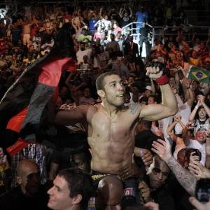 O lutador José Aldo, que será tema de filme com direção de Daniel Filho