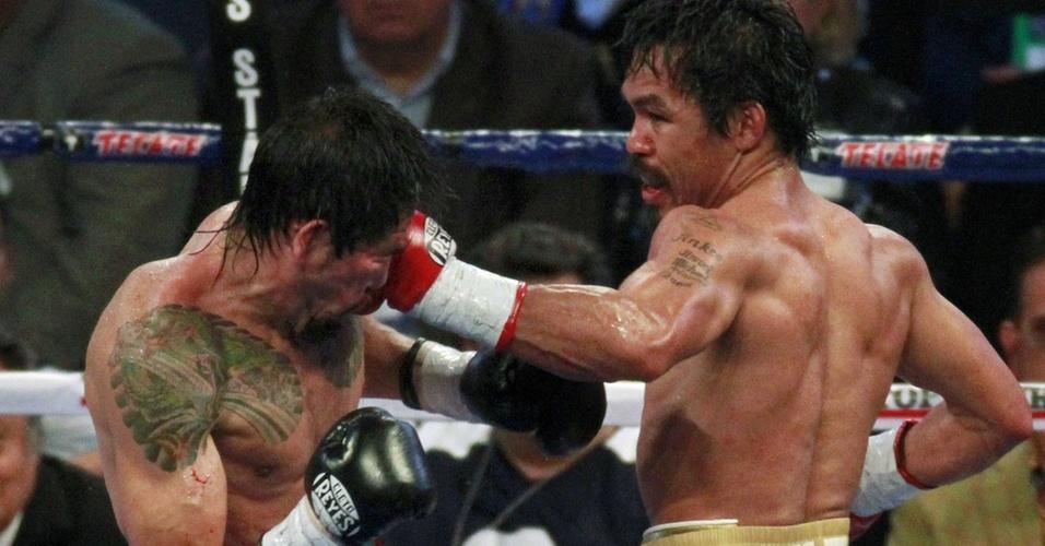 Margarito é atingido por Pacquiao na luta de sábado em Dallas