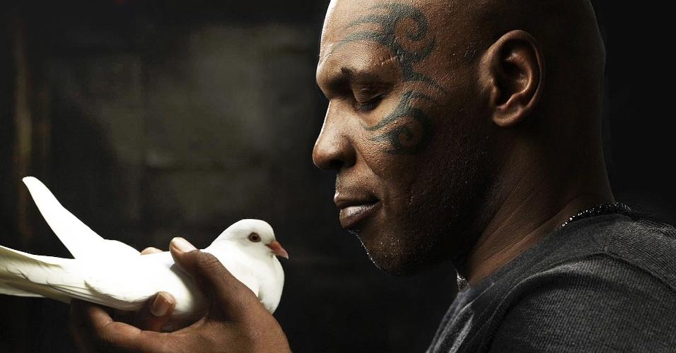 Mike Tyson em imagem de seu novo reality show,