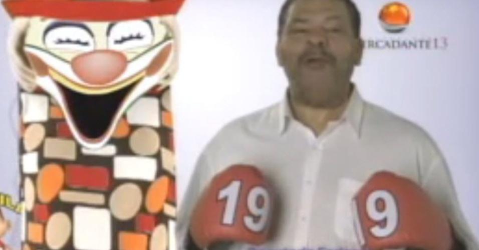 Maguila faz campanha no horário político em 2010; ele foi candidato a deputado federal