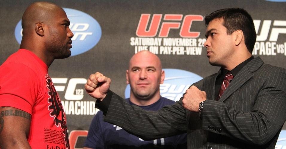 Rampage e Lyoto posam para fotos antes do duelo no UFC 123