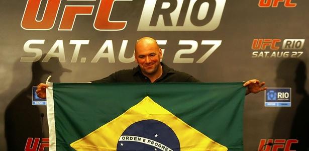 """Dana White: """"O UFC será ainda maior na edição de São Paulo, no meio do ano"""""""