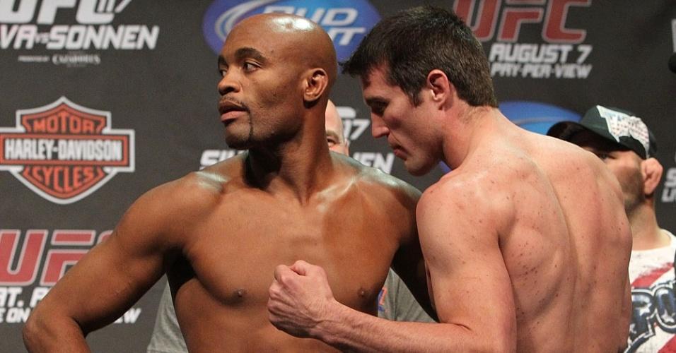 Chael Sonnen encara Anderson Silva na pesagem do UFC 117