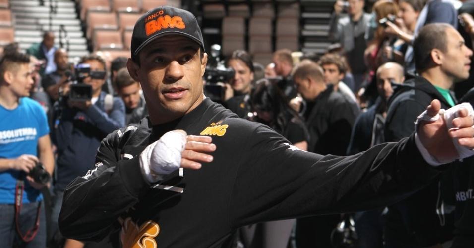 Vitor Belfort durante preparação para combate no UFC