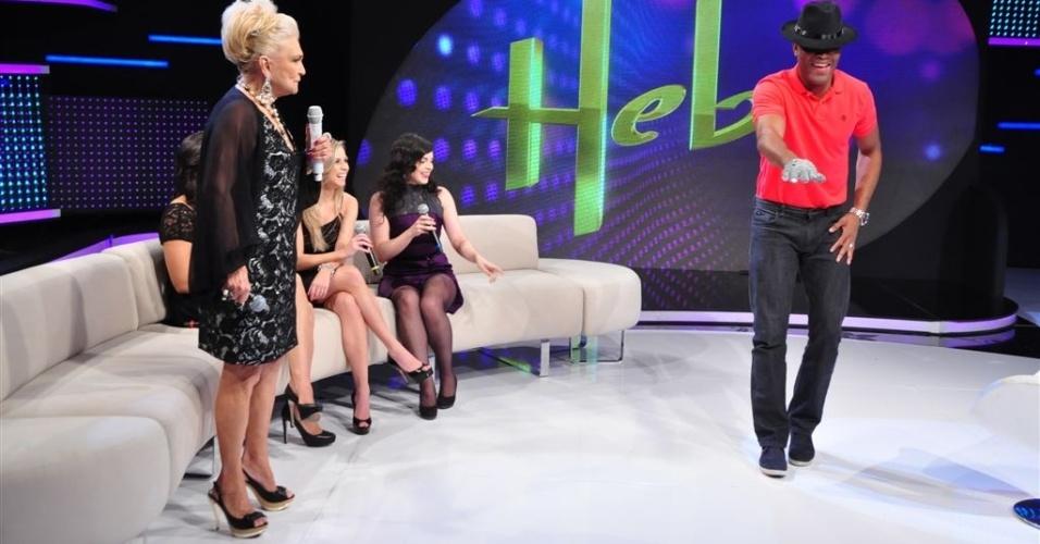 Anderson Silva dança Michael Jackson na Hebe