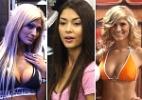 Ring girls e belas modelos são um dos atrativos da feira do UFC 136; veja as gatas