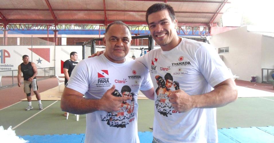 Lyoto Machida ganha o reforço de Luiz Dórea, técnico de Cigano, nos treinos em Belém (PA)