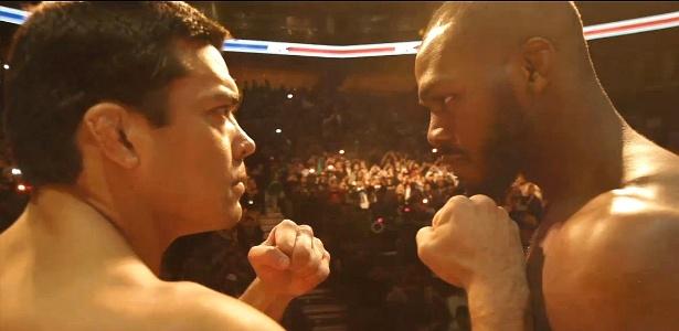 Lyoto Machida encara Jon Jones na pesagem para o UFC 140, em Toronto (Canadá)
