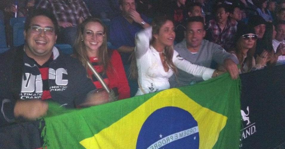 Ator e apresentador da Globo André Marques comparece ao UFC 141, em Las Vegas, que teve como luta principal Lesnar x Overeem