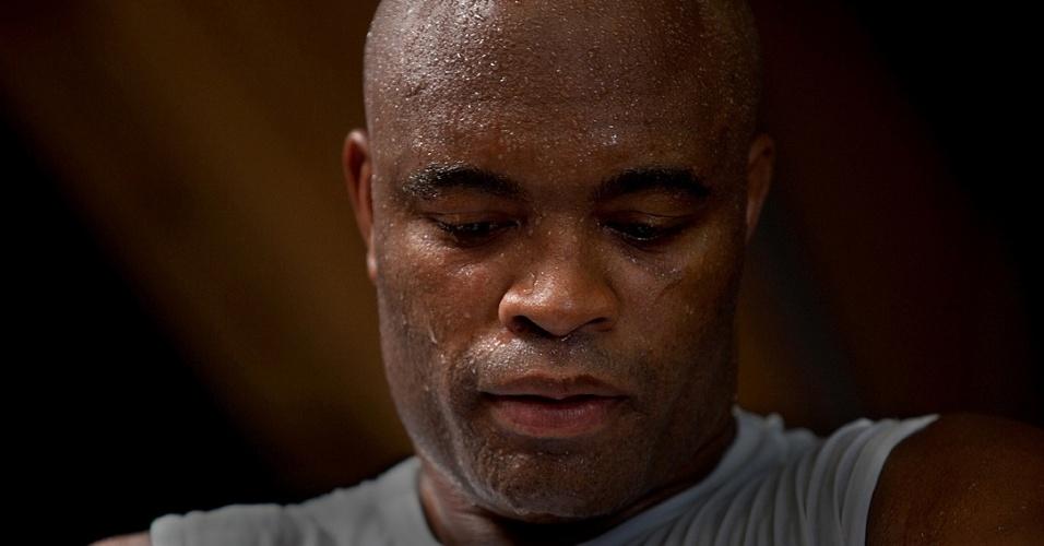 Anderson Silva em foto de divulgação do filme sobre sua luta com Chael Sonnen: