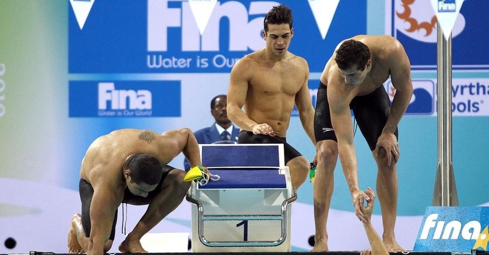 Revezamento 4 x 100 medley fechou o Mundial com medalha para o Brasil