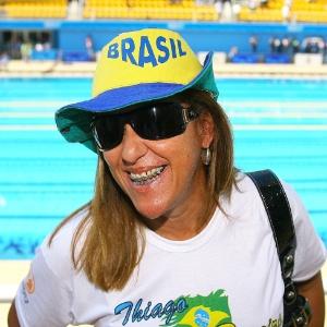 Rose Vilela, mãe do nadador Thiago Pereira, acompanha as provas do filho nos Jogos Pan-Americanos de 2007