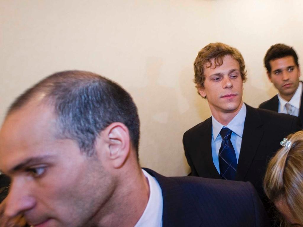 Nicholas Santos, Cesar Cielo (centro) e Henrique Barbosa foram flagrados em teste por presença de furosemida em 2011. Eles foram absolvidos após uma farmácia admitir contaminação em remédio.