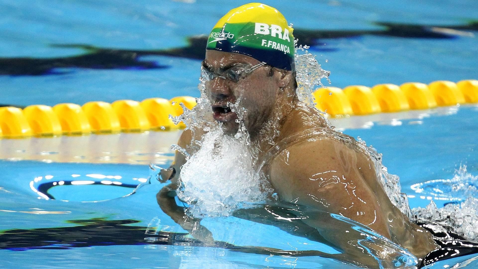 Felipe França disputa as eliminatórias dos 50 m peito do Mundial de Xangai (25/07/11)