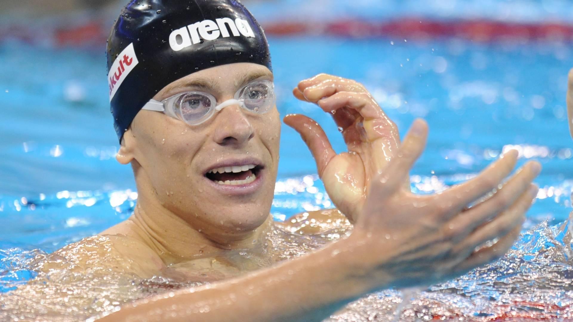 Cielo terminou em 4º lugar nos 100 m e não conseguiu repetir o título mundial de Roma em 2009 (28/07/2011)