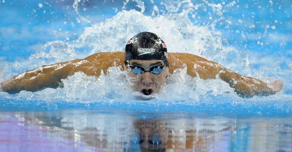 Michael Phelps conquistou a medalha de ouro nos 100m borboleta no Mundial de Xangai (30/07/2011)
