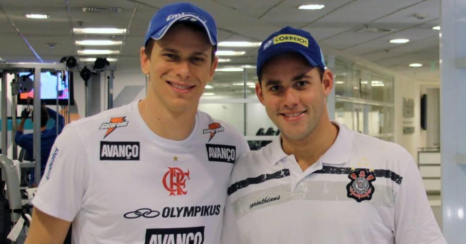 Cesar Cielo e Thiago Pereira (25/08/2011)
