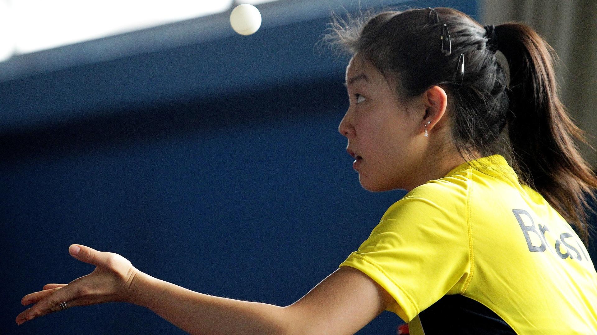 Jéssica Yamada, do tênis de mesa, já está em Guadalajara para o Pan