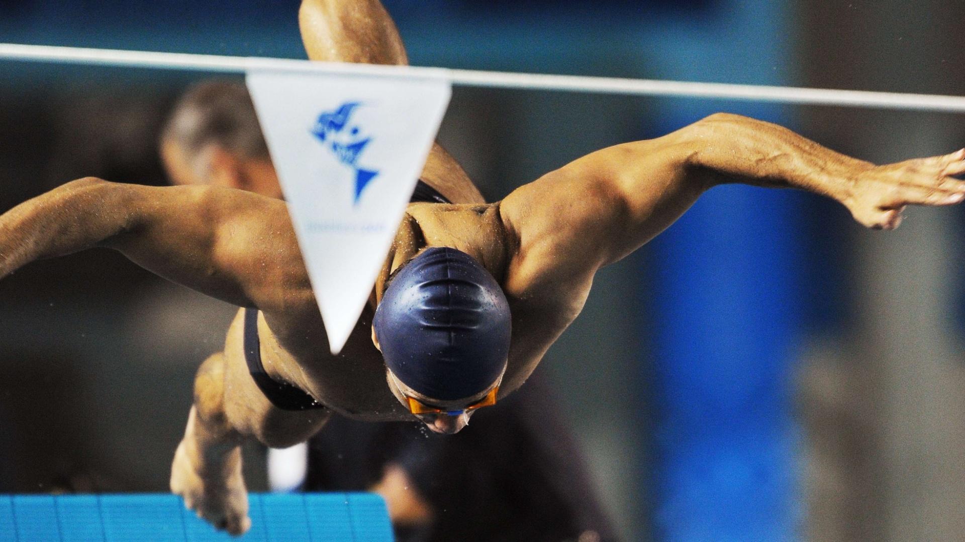 Felipe França treina saída do bloco de partida em Guadalajara, para os Jogos Pan-Americanos, que começam no dia 14 de outubro