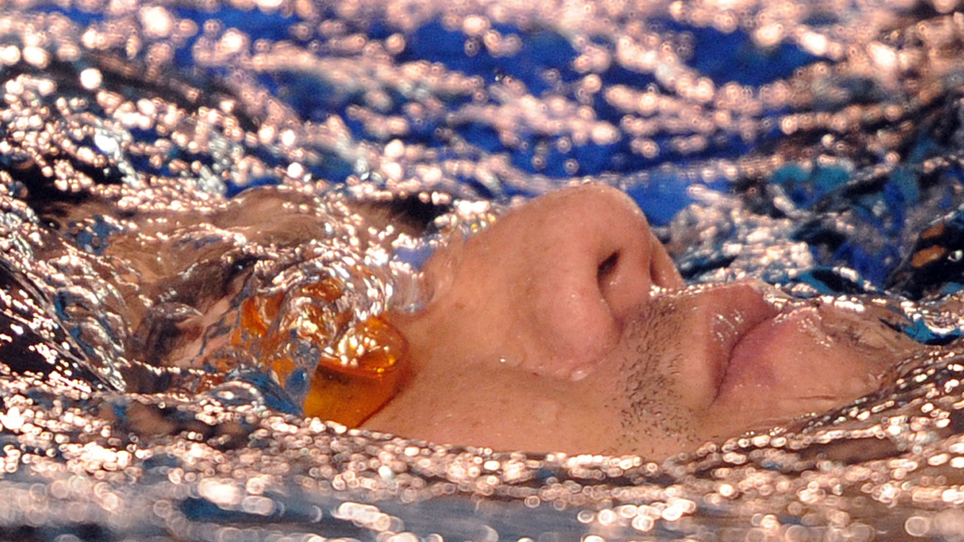 O nadador Felipe França participa de treino do Brasil em Guadalajara. Provas de natação começam no dia 15 de outubro no Pan