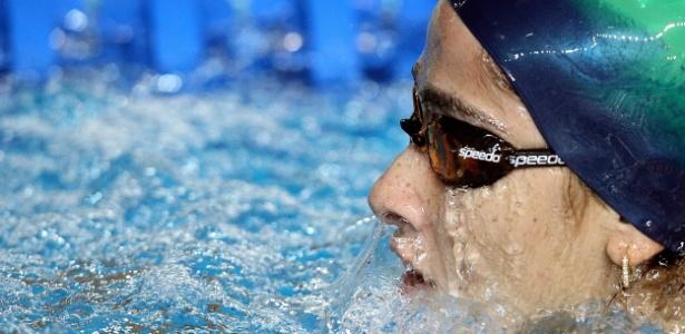 Daynara de Paula se prepara competir no sábado na prova dos 100 m borboleta