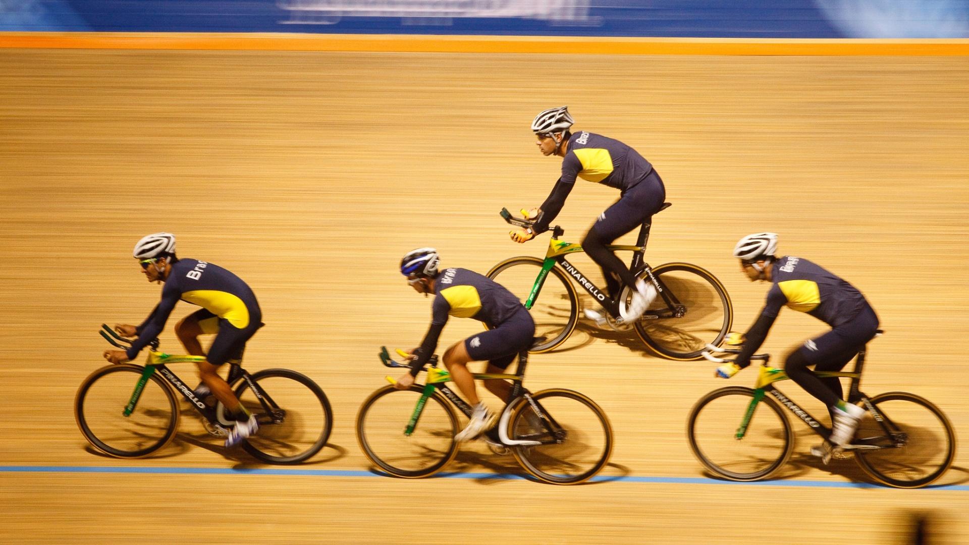 Equipe do Brasil de ciclismo de pista se prepara para os Jogos Pan-Americanos de Guadalajara
