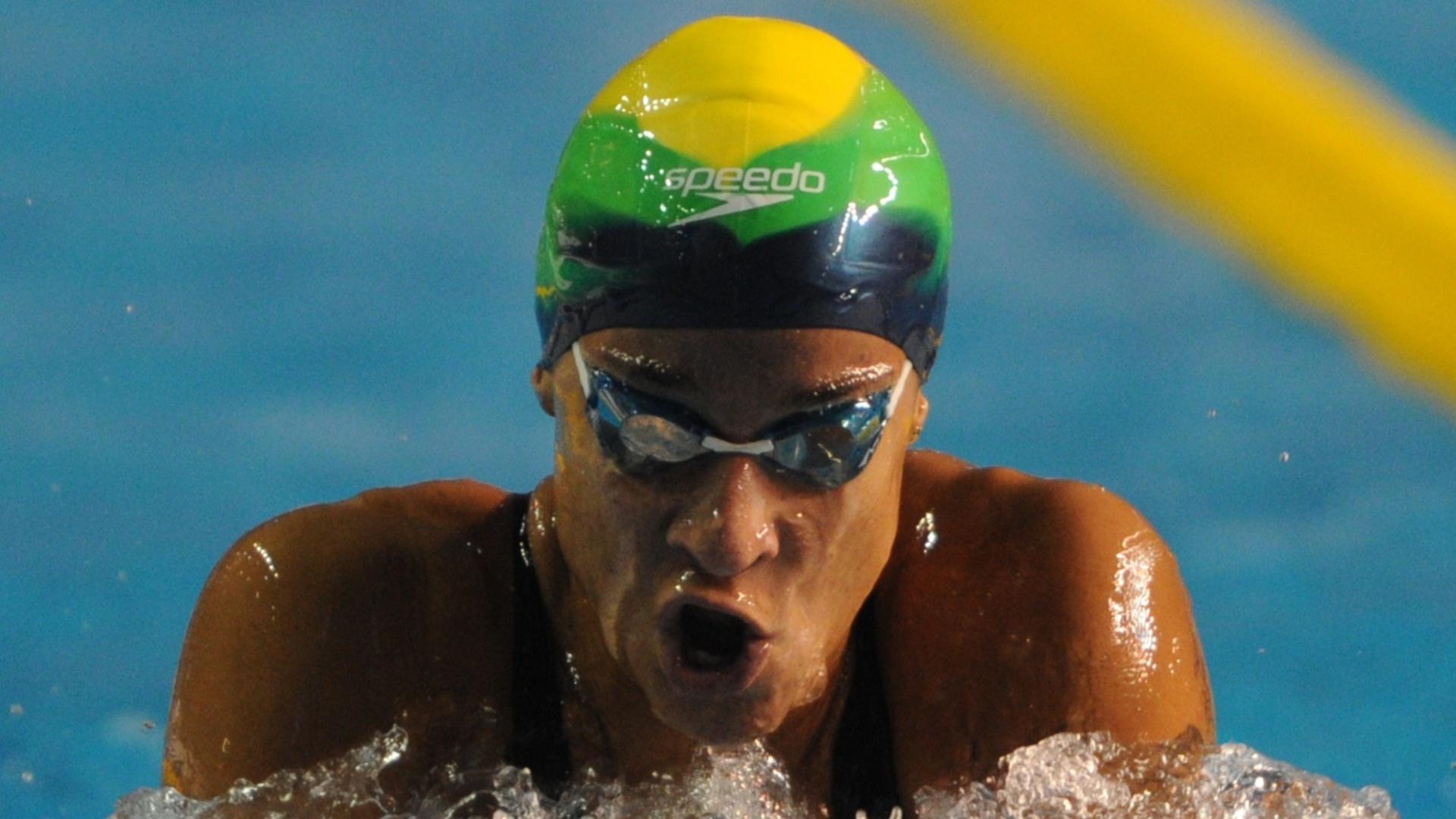 Joanna Maranhão se classificou em terceiro para a final dos 400m medley, com a marca de 4min54s51 (15/10/2011)