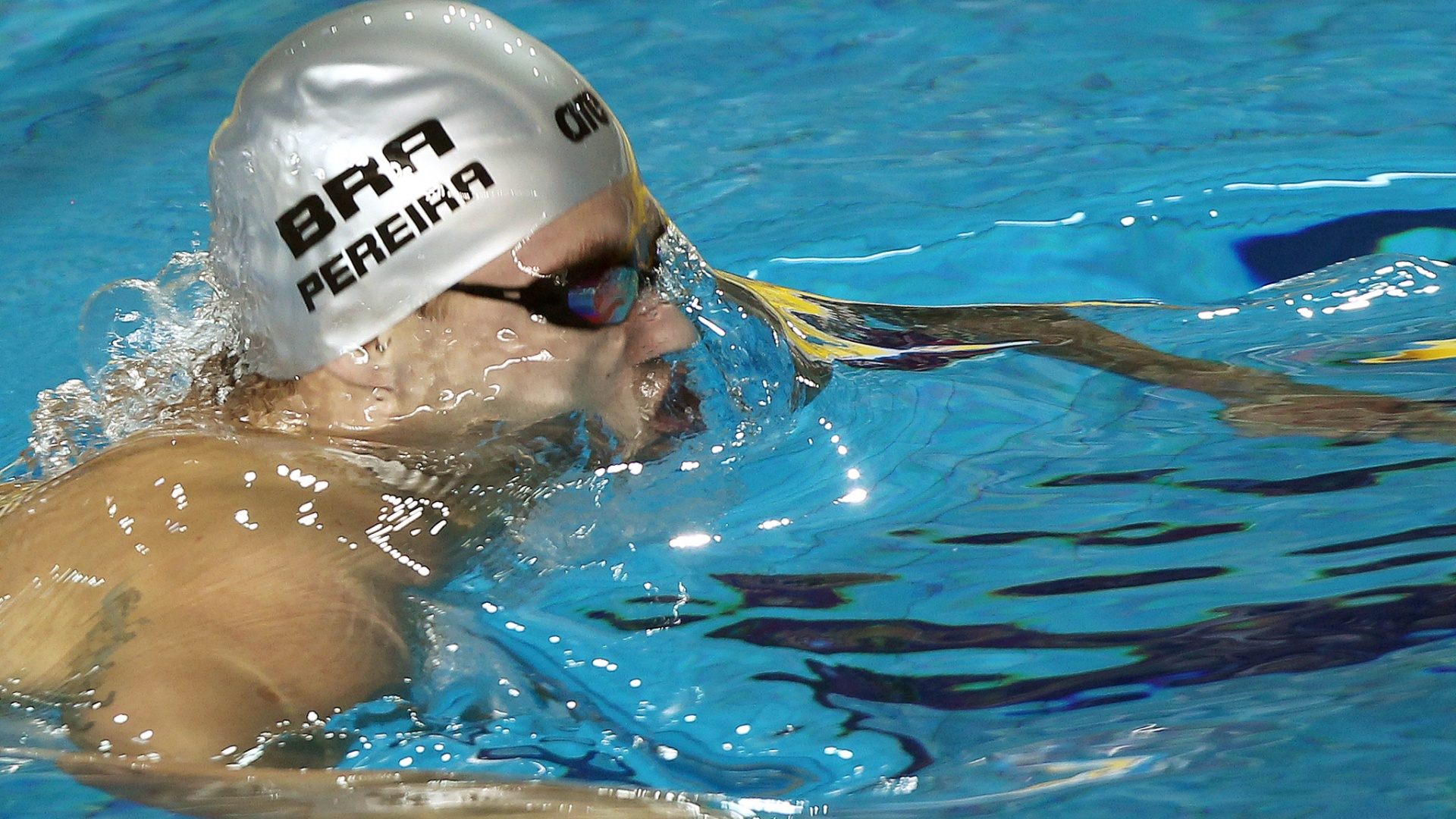 Thiago Pereira nada a disputa dos 400m medley e conquista a medalha de ouro no Pan de Guadalajara (15/10/2011)