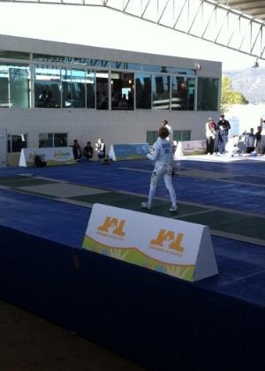 Yane Marques, do pentatlo moderno, disputou esgrina neste sábado no Pan (15/10/2011)