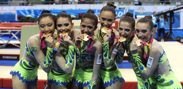 Brasileiras comemoram a conquista do ouro em Guadalajara