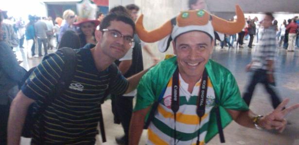 Leonardo (esq) e Paulino foram os únicos da rede social a cumprirem a promessa