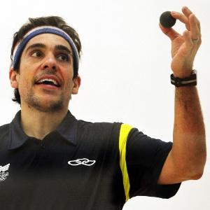 Rafael Alarcon, do squash, acabou derrotado em sua segunda partida em Guadalajara