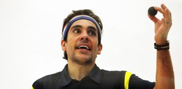 Rafael Alarcon, atleta da seleção brasileira de squash em Guadalajara