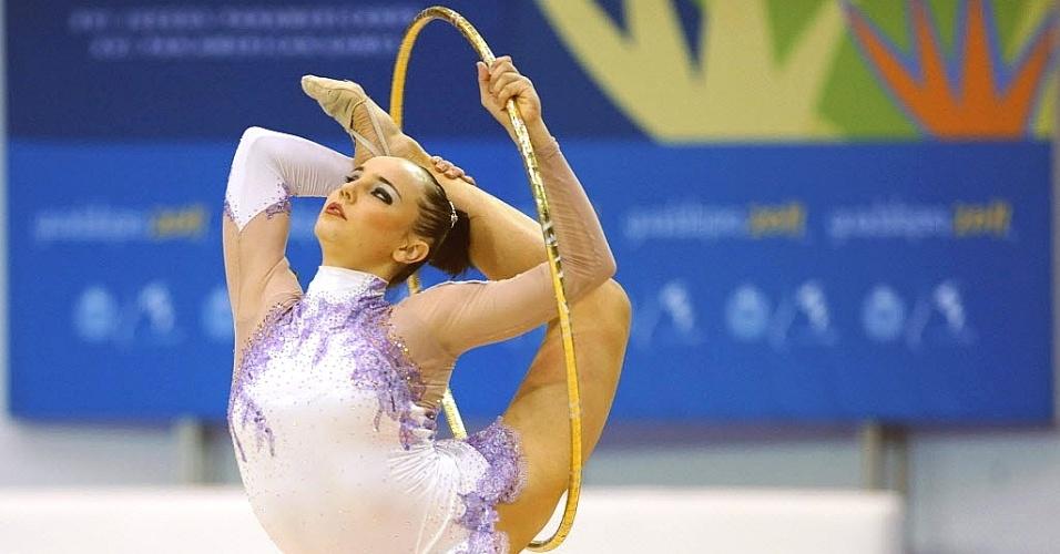 Angélica Kvieczynski realiza performance com o arco e conquista seu segundo bronze no Pan-2011 (17/10/2011)