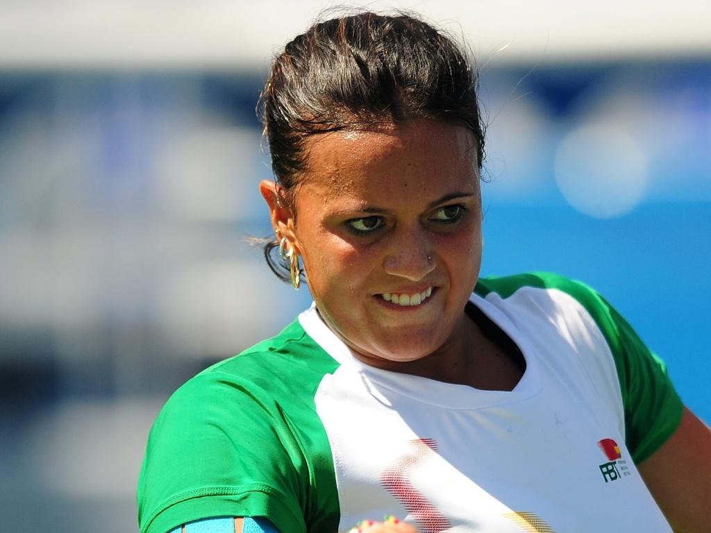 Boliviana Maria Fernanda Alvarez Terá chamou a atenção no tênis do Pan pela forma física