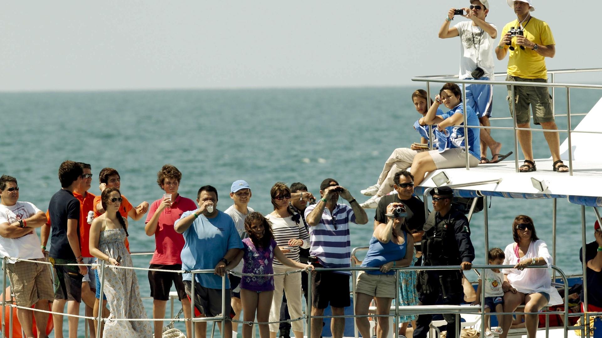 Arquibancada do público que assiste às competições de vela é um pouco diferente do restante do Pan