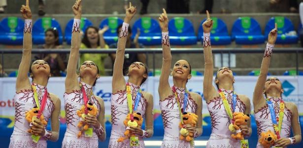 Equipe da ginástica rítmica conquistou o segundo ouro no Pan