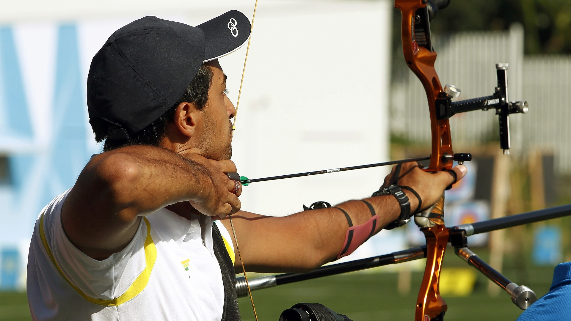 Daniel Xavier, do tiro com arco, compete em Guadalajara-2011 (18/10/2011)