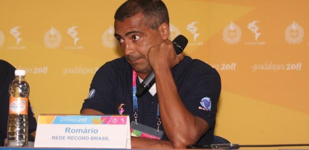 Comentarista da Record, Romário foi atração durante o Pan disputado em Guadalajara