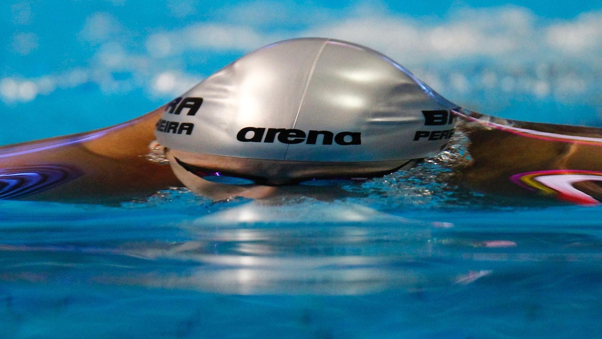 Em busca do recorde de Hugo Hoyama, Thiago Pereira se poupou para a final dos 200 m peito (18/10/2011)